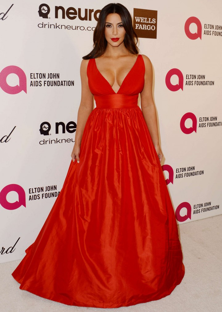 Kim Kardashian red dress