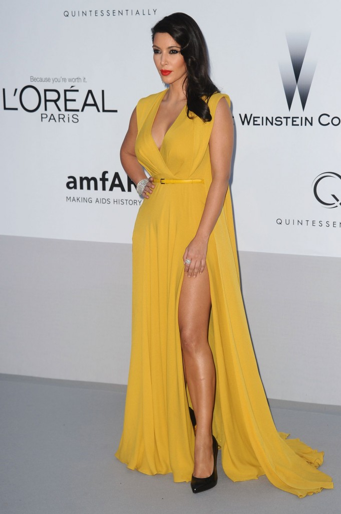 KIM KARDASHIAN at amfAR Cinema Against AIDS